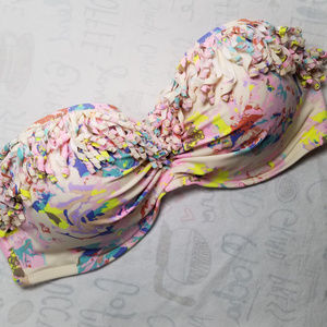 VS Confetti Fringe Bandeau Underwire Swim Top 36D